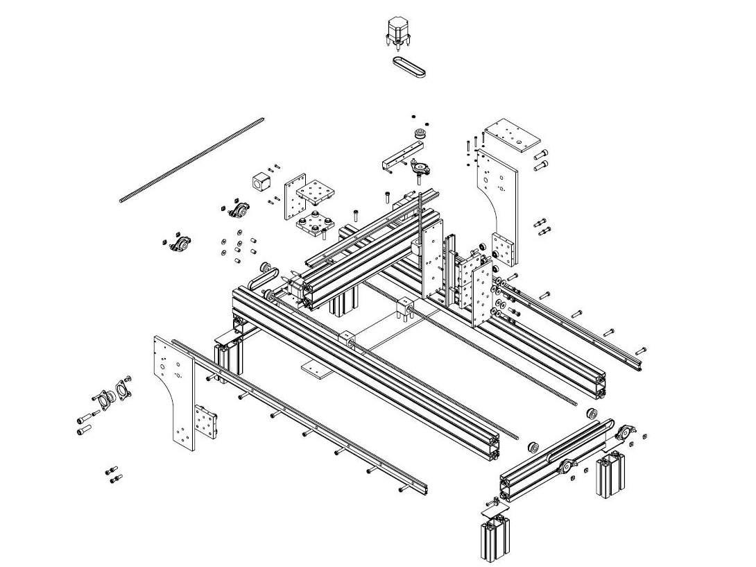 bauplan cnc v mechaplus cnc modellbau portalfr smaschinen. Black Bedroom Furniture Sets. Home Design Ideas